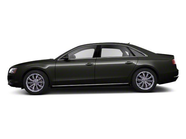 Havanna Black Metallic 2012 Audi A8 L Pictures A8 L Sedan 4D 4.2 Quattro L photos side view