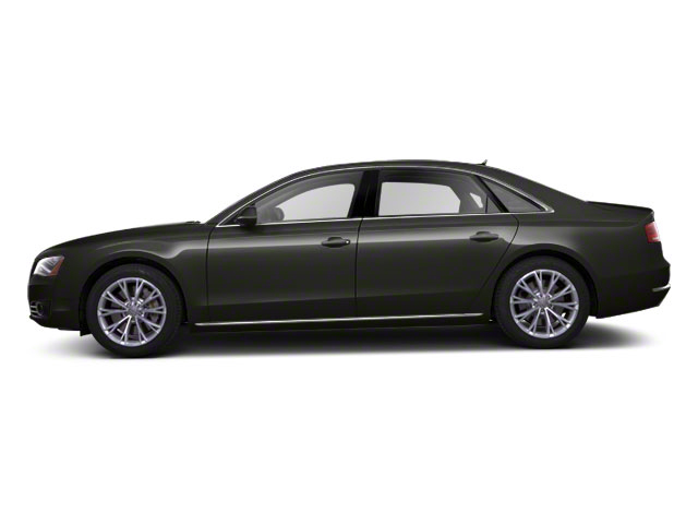 Oolong Grey Metallic 2012 Audi A8 L Pictures A8 L Sedan 4D 4.2 Quattro L photos side view