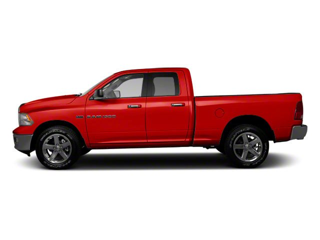Flame Red 2012 Ram Truck 1500 Pictures 1500 Quad Cab SLT 4WD photos side view