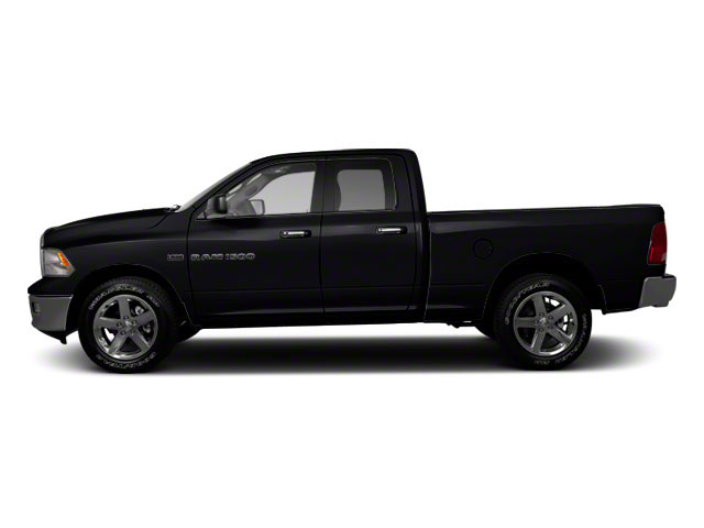 Black 2012 Ram Truck 1500 Pictures 1500 Quad Cab Tradesman 4WD photos side view
