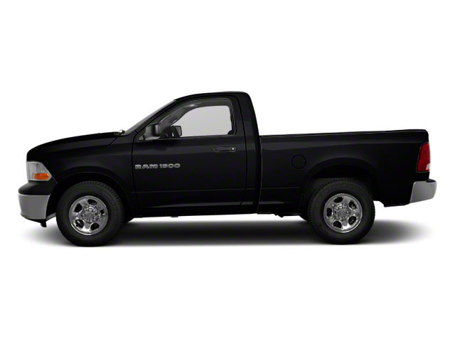 Black 2012 Ram Truck 1500 Pictures 1500 Regular Cab SLT 2WD photos side view