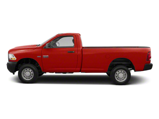 Bright Red 2012 Ram Truck 2500 Pictures 2500 Regular Cab SLT 4WD photos side view