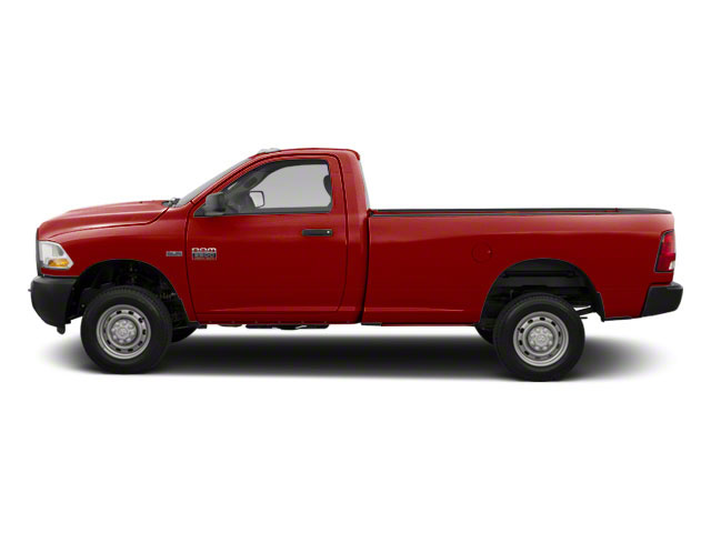 Flame Red 2012 Ram Truck 2500 Pictures 2500 Regular Cab SLT 2WD photos side view
