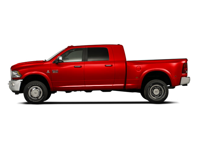 Bright Red 2012 Ram Truck 3500 Pictures 3500 Mega Cab SLT 4WD photos side view