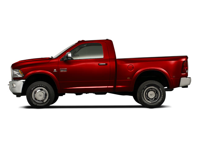 Flame Red 2012 Ram Truck 3500 Pictures 3500 Regular Cab SLT 2WD photos side view
