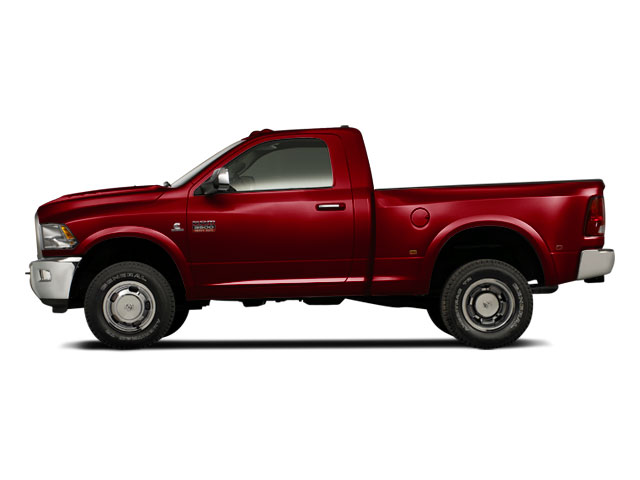 Deep Cherry Red Crystal Pearl 2012 Ram Truck 3500 Pictures 3500 Regular Cab SLT 2WD photos side view