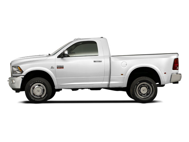 Bright White 2012 Ram Truck 3500 Pictures 3500 Regular Cab SLT 2WD photos side view