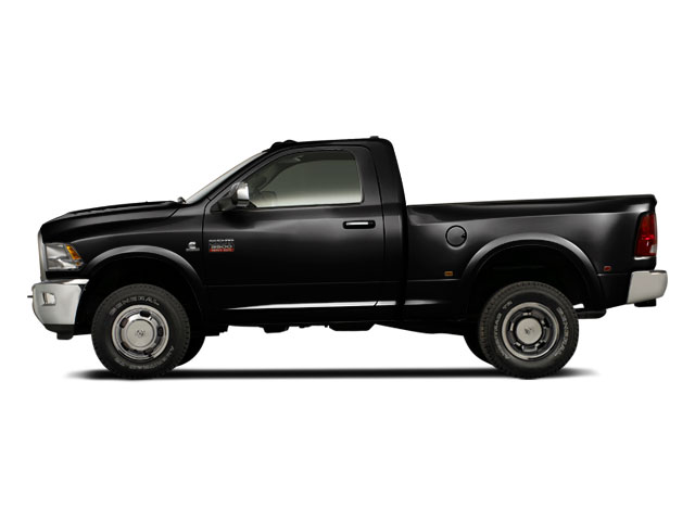 Black 2012 Ram Truck 3500 Pictures 3500 Regular Cab SLT 2WD photos side view
