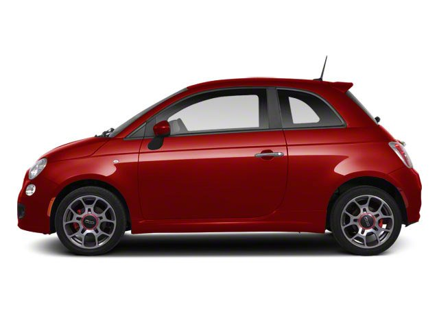 Rosso (Red) 2012 FIAT 500 Pictures 500 Hatchback 3D Sport photos side view