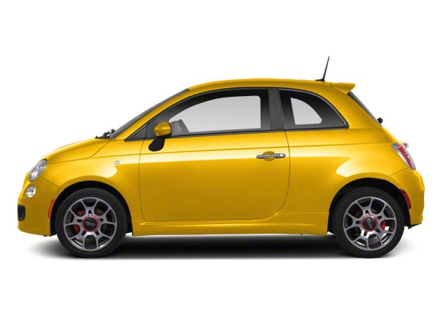 Giallo (Yellow) 2012 FIAT 500 Pictures 500 Hatchback 3D Sport photos side view