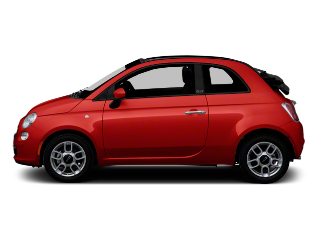 Rosso Brillante (Red Tri-Coat) 2012 FIAT 500 Pictures 500 Convertible 2D Lounge photos side view