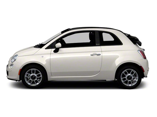 Bianco Perla (Pearl White Tri-Coat) 2012 FIAT 500 Pictures 500 Convertible 2D Lounge photos side view