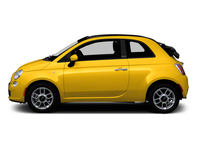 Giallo (Yellow) 2012 FIAT 500 Pictures 500 Convertible 2D Lounge photos side view