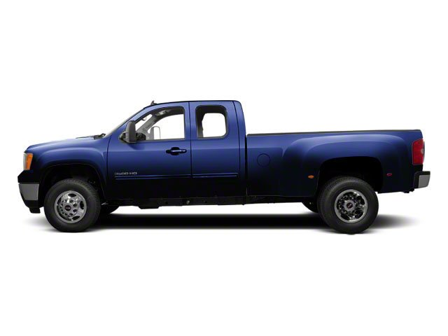 Midnight Blue Metallic 2012 GMC Sierra 3500HD Pictures Sierra 3500HD Extended Cab SLT 4WD photos side view