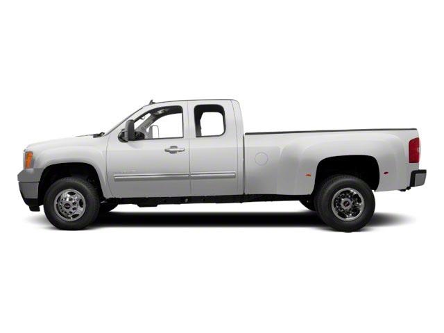 Summit White 2012 GMC Sierra 3500HD Pictures Sierra 3500HD Extended Cab SLT 4WD photos side view
