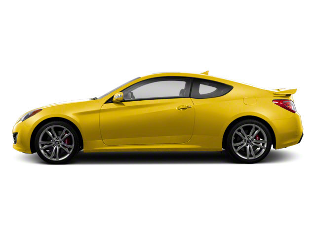 Interlagos Yellow 2012 Hyundai Genesis Coupe Pictures Genesis Coupe 2D Track photos side view
