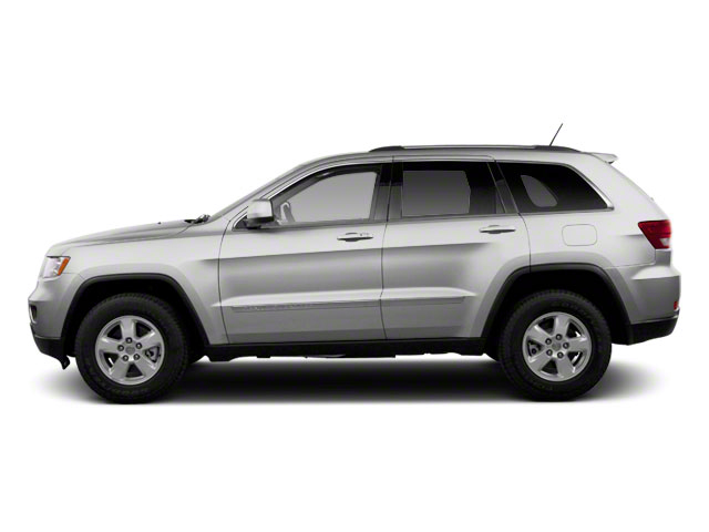 Bright Silver Metallic 2012 Jeep Grand Cherokee Pictures Grand Cherokee Utility 4D Overland 4WD photos side view