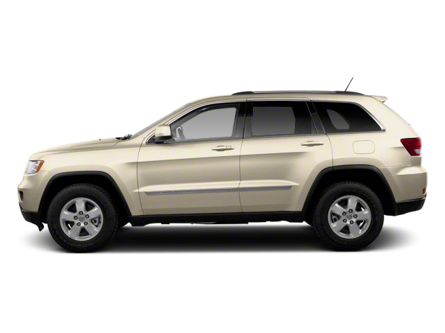 White Gold 2012 Jeep Grand Cherokee Pictures Grand Cherokee Utility 4D Overland 4WD photos side view