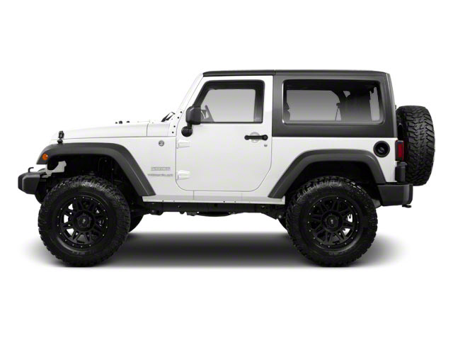 Bright White 2012 Jeep Wrangler Pictures Wrangler Utility 2D Sport 4WD photos side view