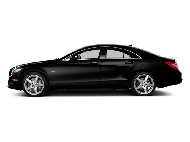 Obsidian Black Metallic 2012 Mercedes-Benz CLS-Class Pictures CLS-Class Sedan 4D CLS550 AWD photos side view
