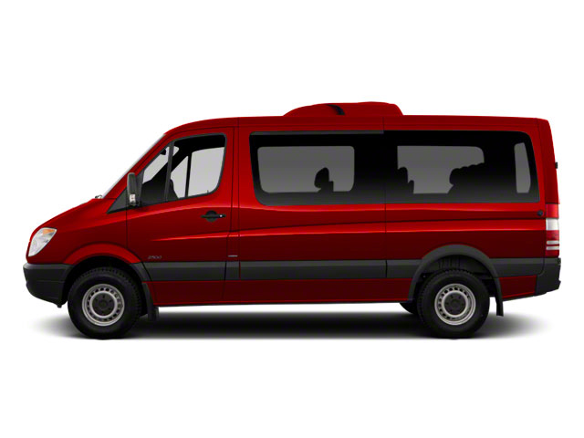 Hibiscus Red 2012 Mercedes-Benz Sprinter Passenger Vans Pictures Sprinter Passenger Vans Passenger Van High Roof photos side view