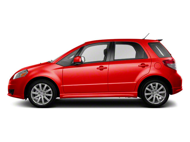 Crimson Red Metallic 2012 Suzuki SX4 Pictures SX4 Hatchback 5D AWD photos side view