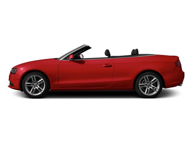 Brilliant Red 2013 Audi A5 Pictures A5 Convertible 2D Prestige 2WD photos side view