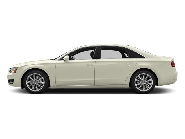 Glacier White Metallic 2013 Audi A8 L Pictures A8 L Sedan 4D 6.3 L AWD W12 photos side view