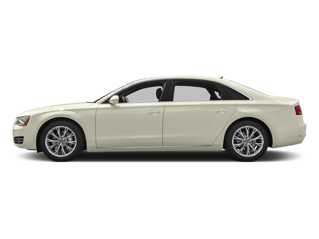 Glacier White Metallic 2013 Audi A8 L Pictures A8 L Sedan 4D 3.0T L AWD V6 Turbo photos side view