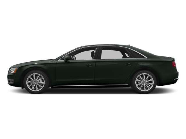 Emerald Black Metallic 2013 Audi A8 L Pictures A8 L Sedan 4D 6.3 L AWD W12 photos side view