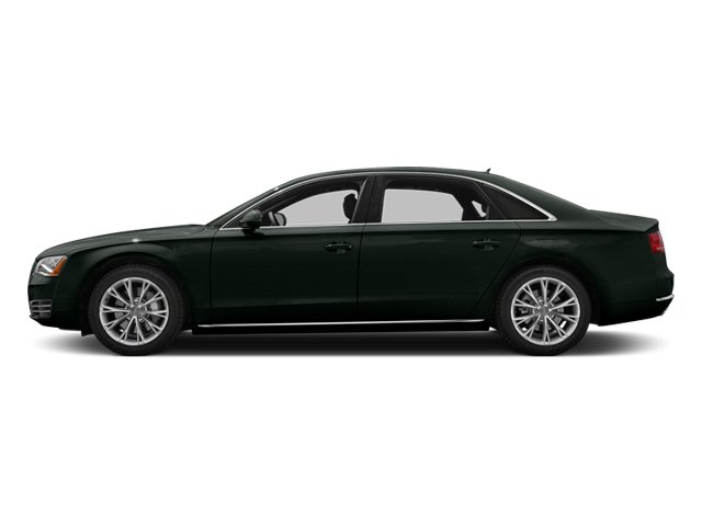 Emerald Black Metallic 2013 Audi A8 L Pictures A8 L Sedan 4D 3.0T L AWD V6 Turbo photos side view