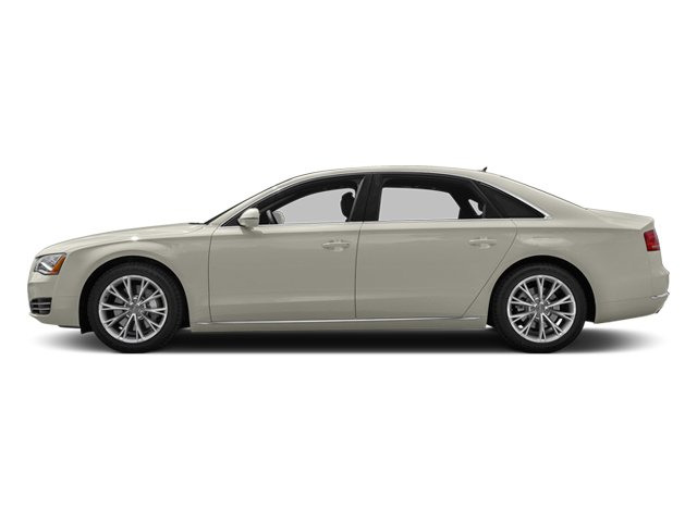 Ice Silver Metallic 2013 Audi A8 L Pictures A8 L Sedan 4D 6.3 L AWD W12 photos side view