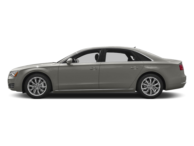 Quartz Gray Metallic 2013 Audi A8 L Pictures A8 L Sedan 4D 6.3 L AWD W12 photos side view