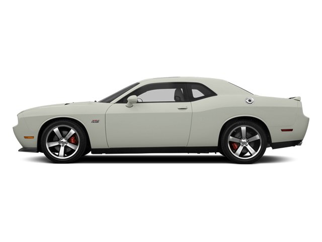 Bright White 2013 Dodge Challenger Pictures Challenger Coupe 2D SRT-8 V8 photos side view