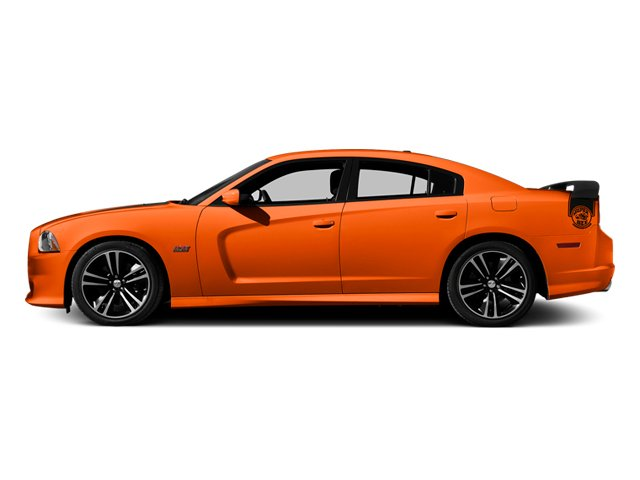 Hemi Orange Pearl 2013 Dodge Charger Pictures Charger Sedan 4D SRT-8 Super Bee V8 photos side view