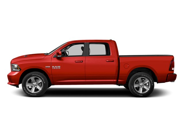 Flame Red 2013 Ram Truck 1500 Pictures 1500 Crew Cab SLT 4WD photos side view