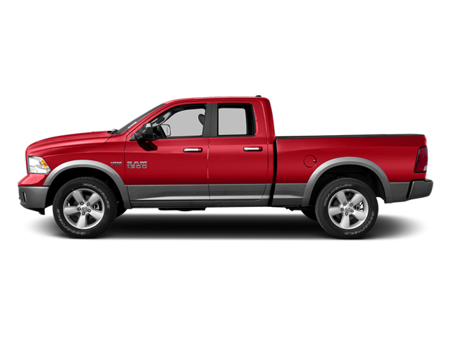 Flame Red 2013 Ram Truck 1500 Pictures 1500 Quad Cab Outdoorsman 2WD photos side view
