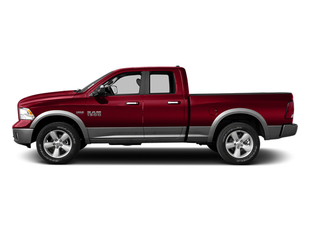 Deep Cherry Red Crystal Pearl 2013 Ram Truck 1500 Pictures 1500 Quad Cab Outdoorsman 2WD photos side view
