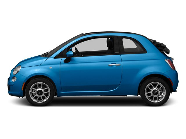 Verde Azzurro (Blue-Green) 2013 FIAT 500 Pictures 500 Convertible 2D Pop I4 photos side view