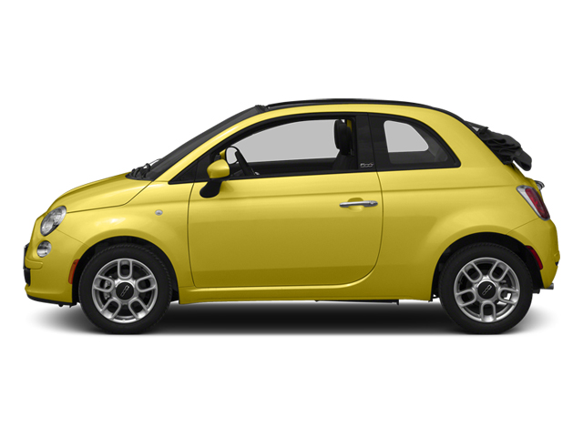 Giallo (Yellow) 2013 FIAT 500 Pictures 500 Convertible 2D Pop I4 photos side view
