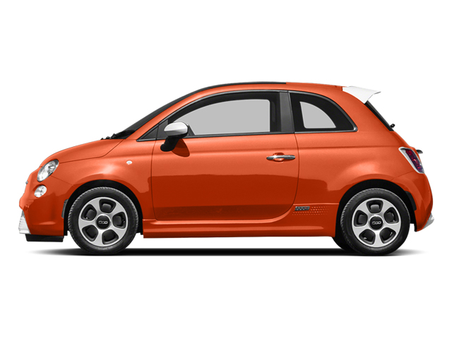 Electric Orange Tri-Coat Pearl 2013 FIAT 500e BATTERY ELECTRIC Pictures 500e BATTERY ELECTRIC Hatchback 3D 500e Electric photos side view