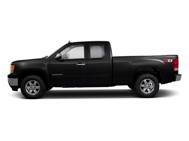 Onyx Black 2013 GMC Sierra 1500 Pictures Sierra 1500 Extended Cab SLE 4WD photos side view