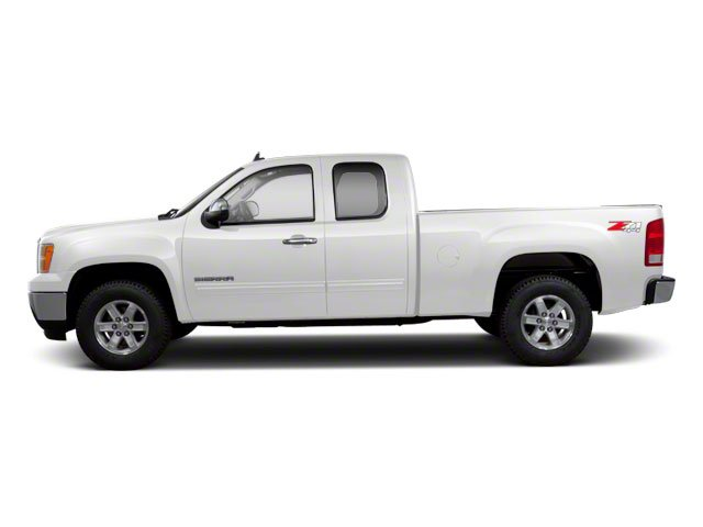 Summit White 2013 GMC Sierra 1500 Pictures Sierra 1500 Extended Cab SLE 4WD photos side view