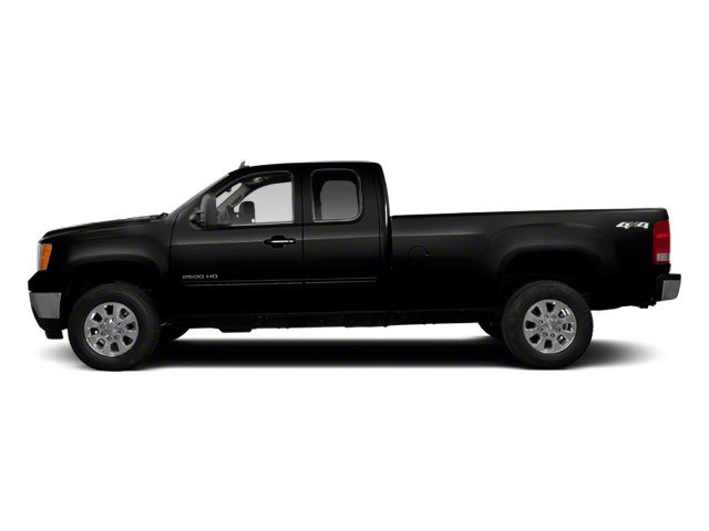 Onyx Black 2013 GMC Sierra 2500HD Pictures Sierra 2500HD Extended Cab SLE 4WD photos side view