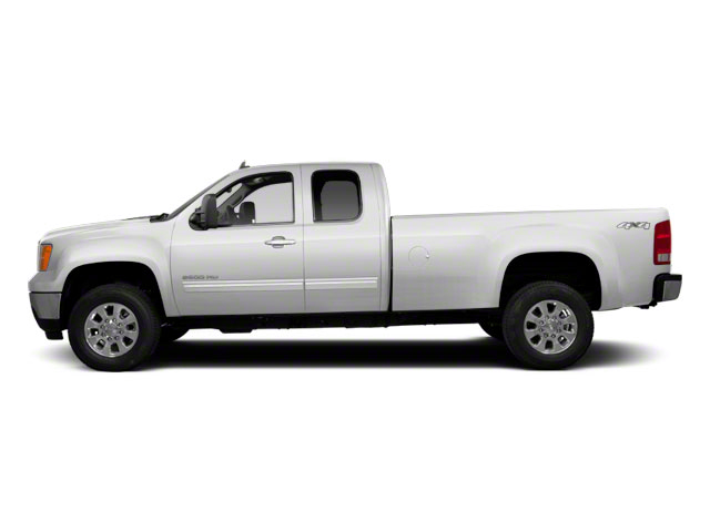 Summit White 2013 GMC Sierra 2500HD Pictures Sierra 2500HD Extended Cab SLE 4WD photos side view