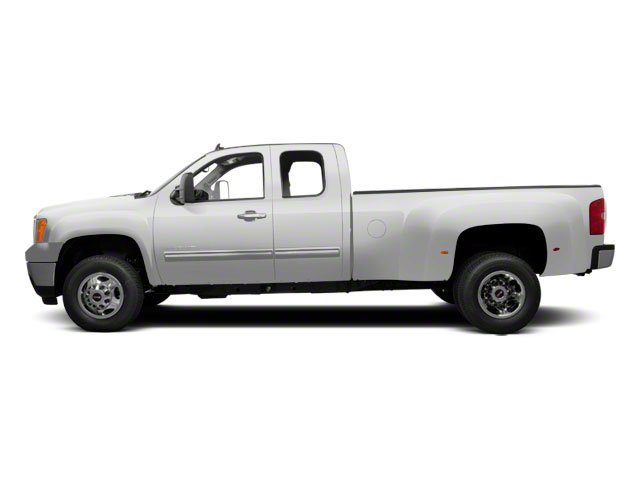 Summit White 2013 GMC Sierra 3500HD Pictures Sierra 3500HD Extended Cab SLT 2WD photos side view