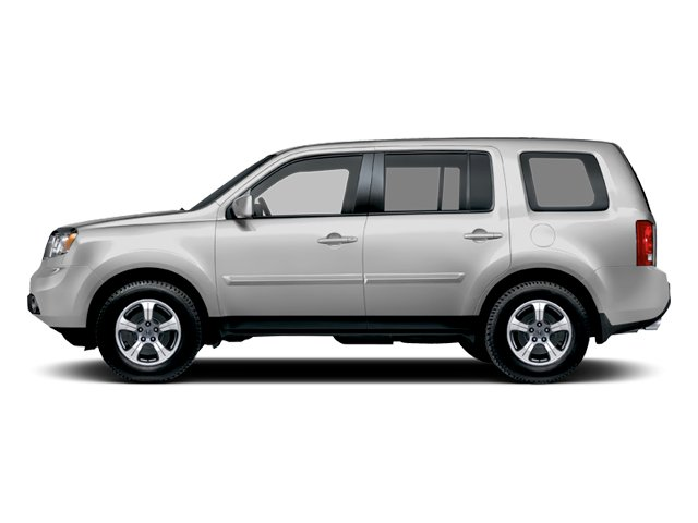 Alabaster Silver Metallic 2013 Honda Pilot Pictures Pilot Utility 4D EX-L DVD 4WD V6 photos side view