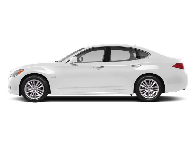 Moonlight White 2013 INFINITI M35h Pictures M35h Sedan 4D V6 Hybrid photos side view