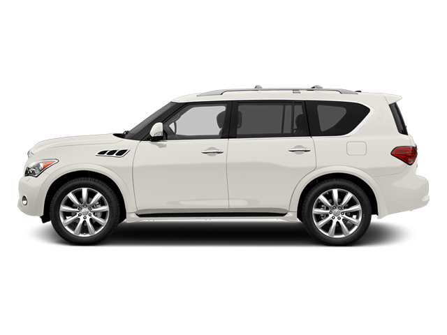 Moonlight White 2013 INFINITI QX56 Pictures QX56 Utility 4D 4WD photos side view