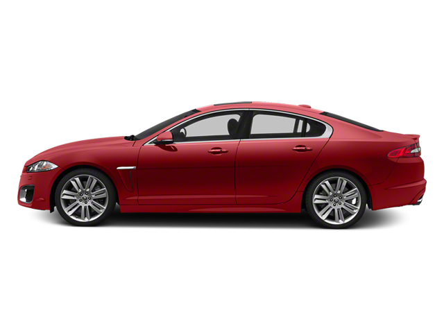 Italian Racing Red 2013 Jaguar XF Pictures XF Sedan 4D XFR V8 Supercharged photos side view